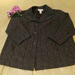 Liz Claiborne Jackets & Coats - Liz Claiborne Wool Gray Short Coat Sz 20W